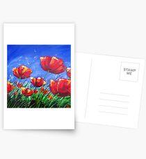 Summer Poppies Postcards