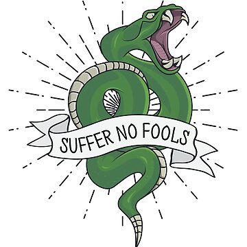 Snake Tattoo Style Suffer No Fools by RadicalChill