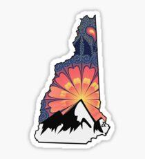 New Hampshire Orange Mt Sticker