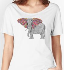 Bella The Happy Butterphant Women's Relaxed Fit T-Shirt