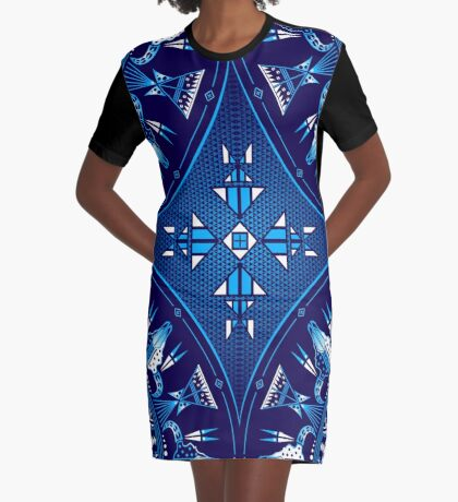 Buffalo Gathering Blue Graphic T-Shirt Dress