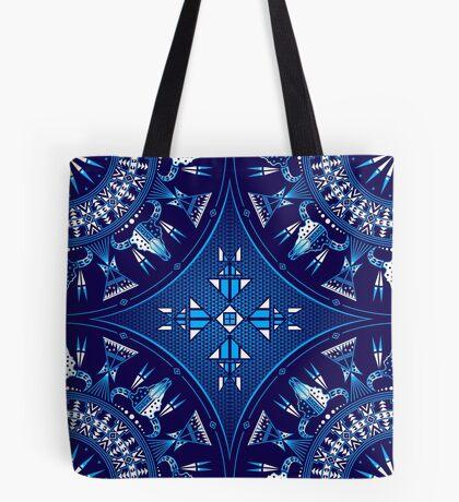Buffalo Gathering Blue Tote Bag