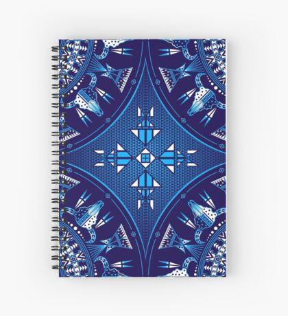 Buffalo Gathering Blue Spiral Notebook