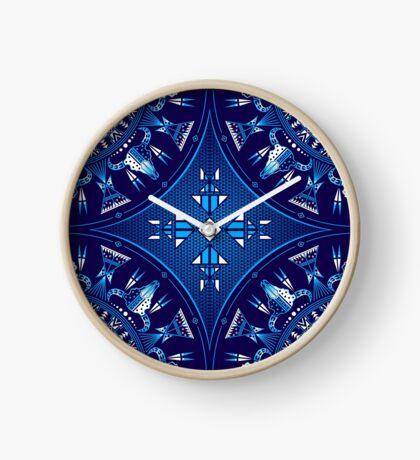 Buffalo Gathering Blue Clock