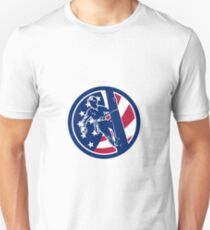 American Lineworker USA Flag Icon Unisex T-Shirt