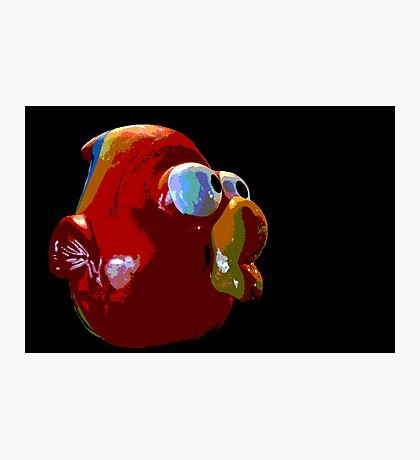 Big Mouth Red Fish Photographic Print