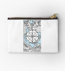 Modern Tarot Design - 10 Wheel of Fortune Studio Pouch