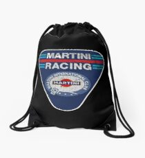martini racing rally Drawstring Bag