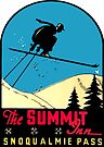 Summit Inn at Snoqualmie Pass Vintage Travel Decal by hilda74