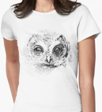 Owl Sketch Women's Fitted T-Shirt