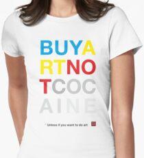 Buy Art Not Cocaine Camiseta entallada para mujer