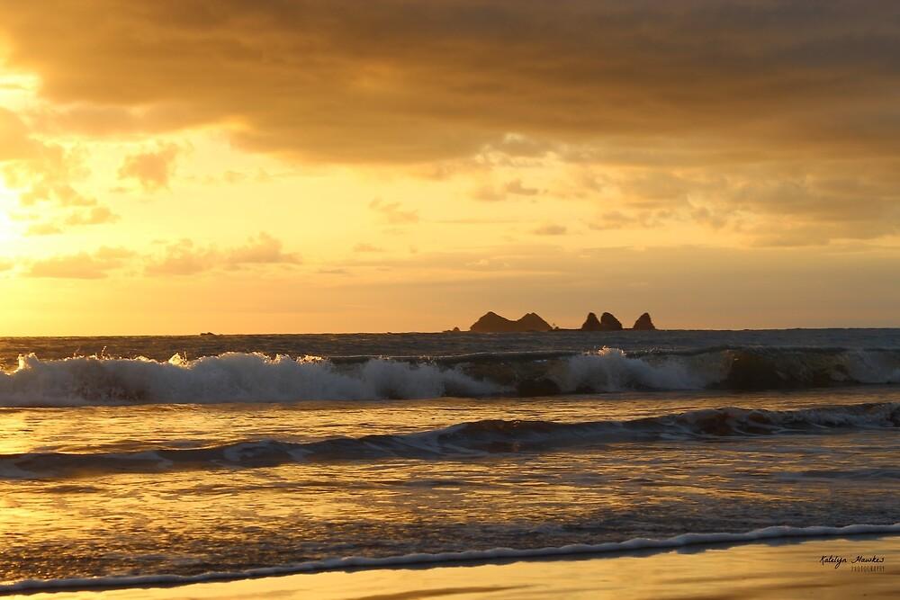 Golden Break at Playa Pinuelas by photosbykhawkes