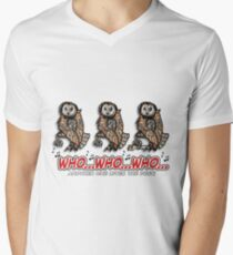 """Who...Who...Who..."" Men's V-Neck T-Shirt"