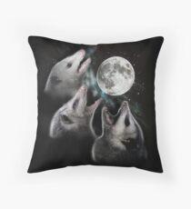 3 Opossum Mond Dekokissen