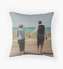 Downton Abbey's Mrs. Hughes and Mr. Carson Throw Pillow