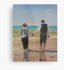 Downton Abbey's Mrs. Hughes and Mr. Carson Metal Print