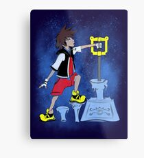 The Keyblade In The Stone Metal Print