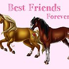 Best Friends Forever - Horses by Unicornarama