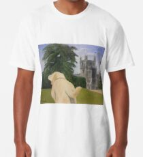 Downton Abbey's beloved Isis and the Abbey.  Long T-Shirt