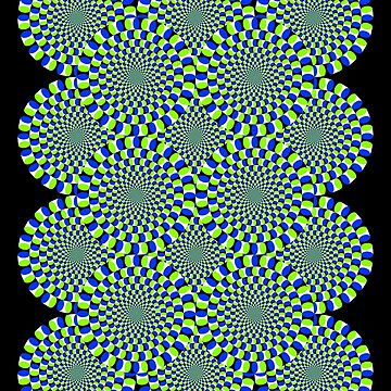 Rotating Snakes Illusion by suranyami