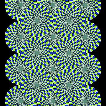Rotating Snakes Illusion by suranyami