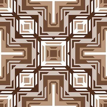 Modern Tribe Mosaic Native American Indian Pattern by FudgePudge