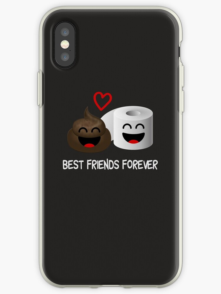 quality design 5e795 8c82c 'Funny Poop Emoji Best Friends Forever Toilet Humor ' iPhone Case by  Essetino