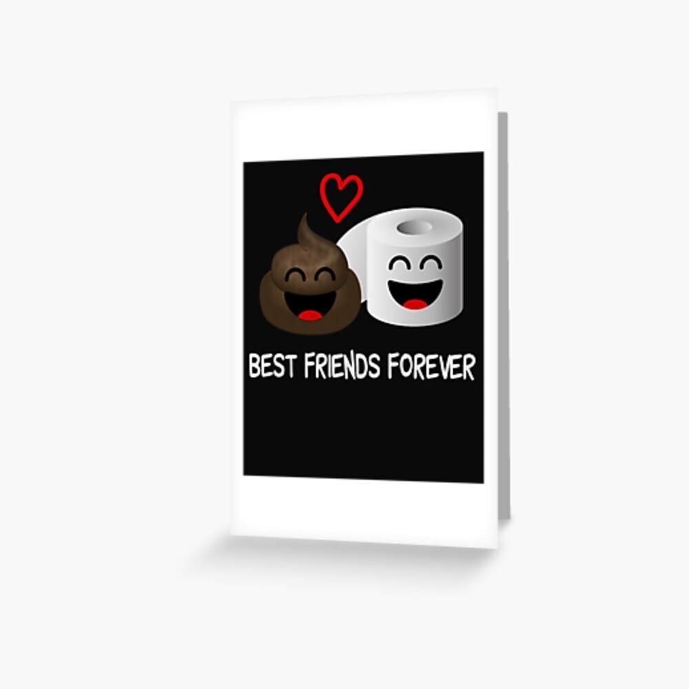 Lustiger Poop Emoji beste Freunde für immer Toiletten-Spaß Grußkarte