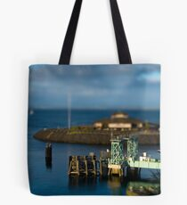Tiny Point Defiance Ferry Terminal Tote Bag