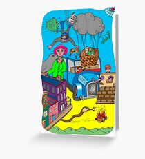 Crazy Environment Greeting Card