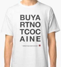 Compra arte no cocaina Camiseta clásica