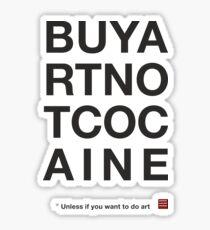 Compra arte no cocaina Pegatina