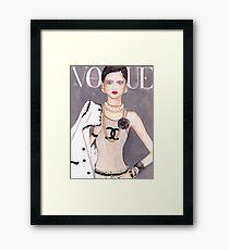Vogue Paris March 2009 Cover Framed Print