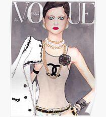 Vogue Paris March 2009 Cover Poster