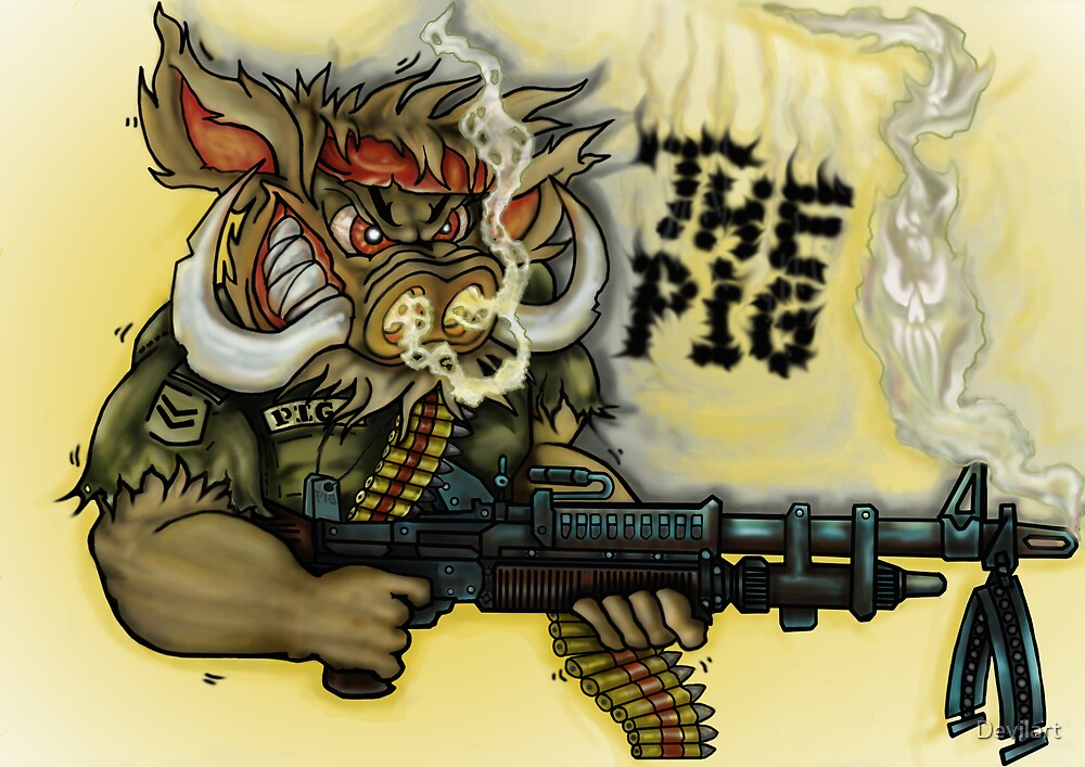 Quot Atomikboy 180 S Design War Pig Quot By Devilart Redbubble