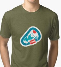 Carabiner Mountain Climbing Tri-blend T-Shirt