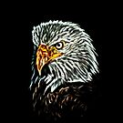 Bald Eagle - Glow Art by HelmarDesigns