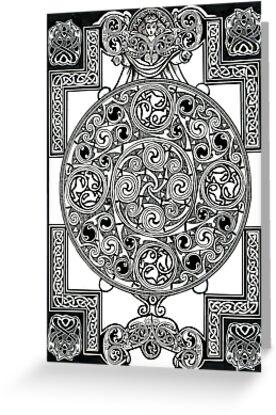 Celtic Tapestry Drawing by morgansartworld