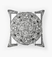 Celtic Tapestry Drawing Throw Pillow
