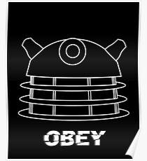 Dalek - Obey (White) Poster