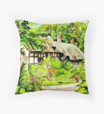 Anne Hathaway`s Cottage England Throw Pillow