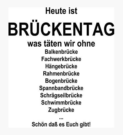 German wordgame for Brückentag Photographic Print