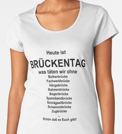 German wordgame for Brückentag Women's Premium T-Shirt