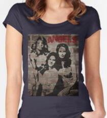 Graffiti Art: Charlie's Angels Women's Fitted Scoop T-Shirt