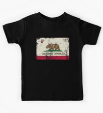 Vintage California State Flag  Kids Tee
