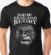 "New Zealand Rugby Shirt Maori Inspired Kiwi silver fern - The Rugby Team ""All Blacks"" of New Zealand  Unisex T-Shirt"