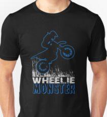 Wheelie Monster Blue Unisex T-Shirt