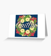 Caitlin - Personalised Wreath of Flowers Greeting Card