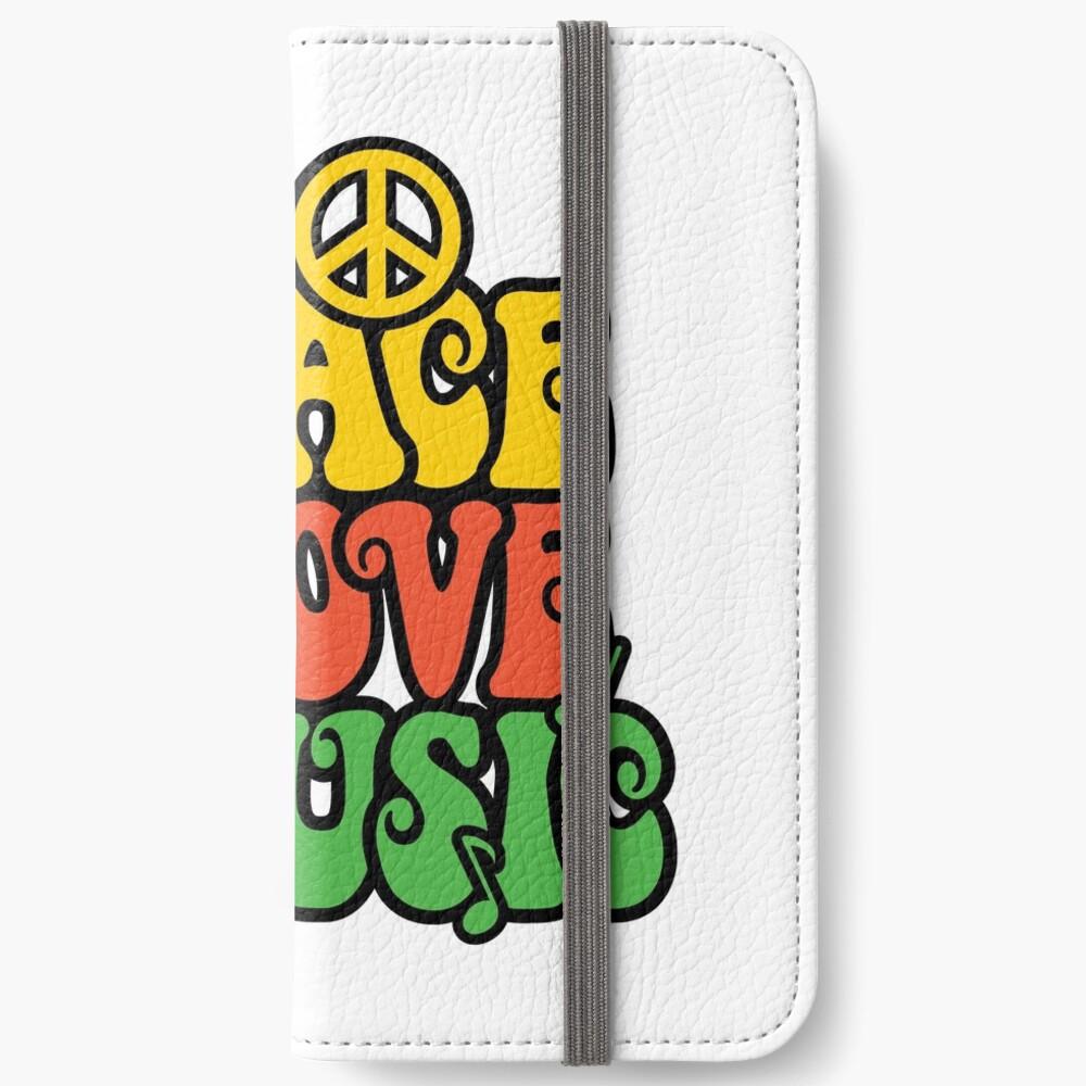 Reggae Peace-Love-Musik iPhone Flip-Case