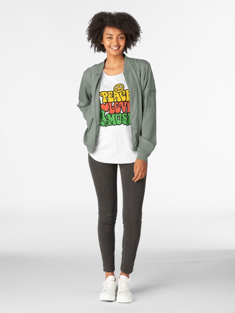 Alternative Ansicht von Reggae Peace-Love-Musik Premium Rundhals-Shirt